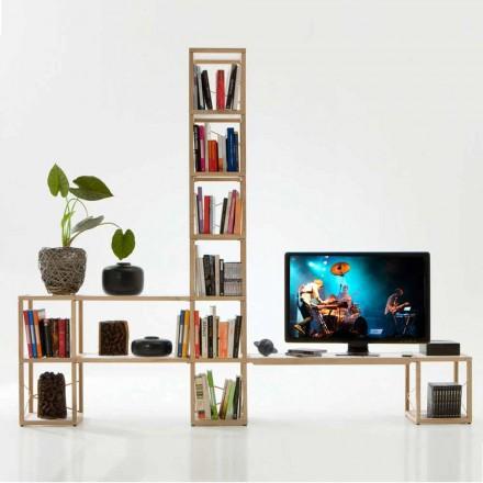 Libreria componibile moderna Zia Babele I Castelli 3