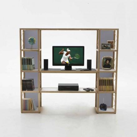 Libreria componibile in legno Zia Babele I Castelli 5 fatta in Italia