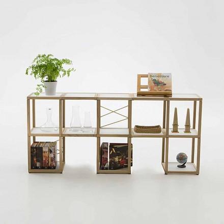 Libreria componibile Zia Babele I Castelli 1 legno rovere made Italy