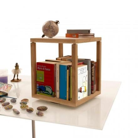 Libreria con moduli Zia Babele Le Trottole in legno design made Italy