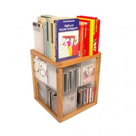 Libreria componibile legno Zia babele Le Trottole prodotta in italia