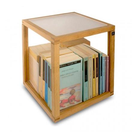 Libreria design moderno Zia babele Le Trottole  in legno made in Italy
